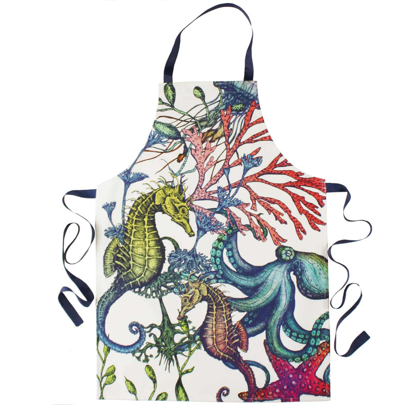 Oven Gloves & Apron Luxury Hamper - Reef -Luxury Gift Hamper- Cream Cornwall