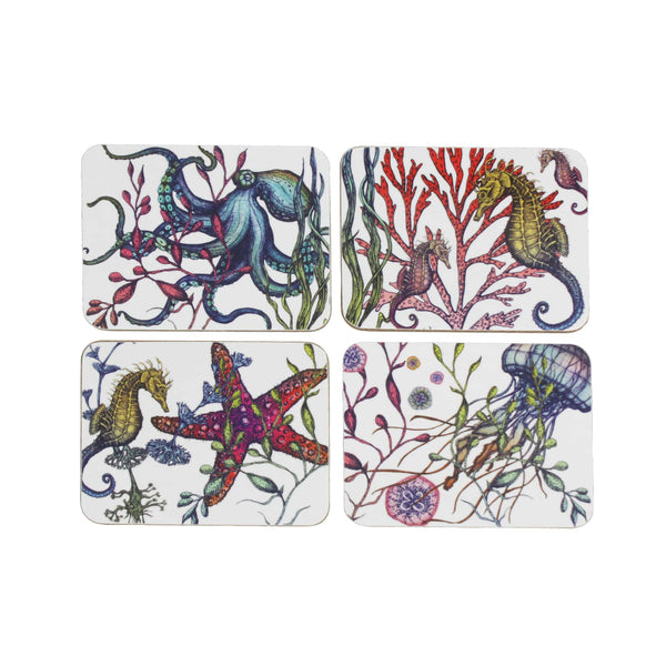 Set Of Four Reef Coasters -Kitchen & Dining- Cream Cornwall