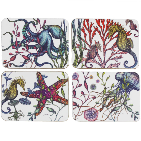 Reef Collection Set Of 4 Placemats -Kitchen & Dining- Cream Cornwall