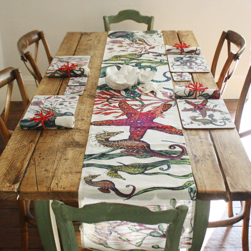 Reef Linen Table Runner -Kitchen & Dining- Cream Cornwall