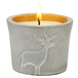 Christmas Orange & Cinnamon Reindeer Pot Candle -Accessories- Cream Cornwall
