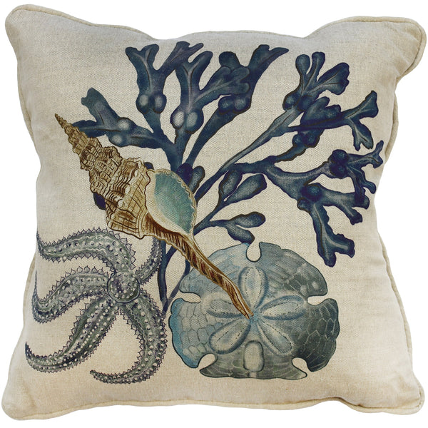 Saltwater Natural Linen Cushion Cover - Cream Cornwall