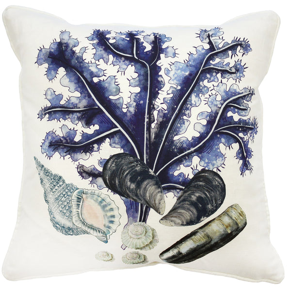 Rockpool Off White Linen Cushion Cover - Cream Cornwall
