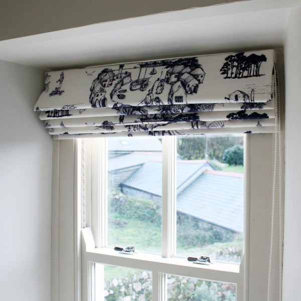 Roman Blinds -Homeware- Cream Cornwall