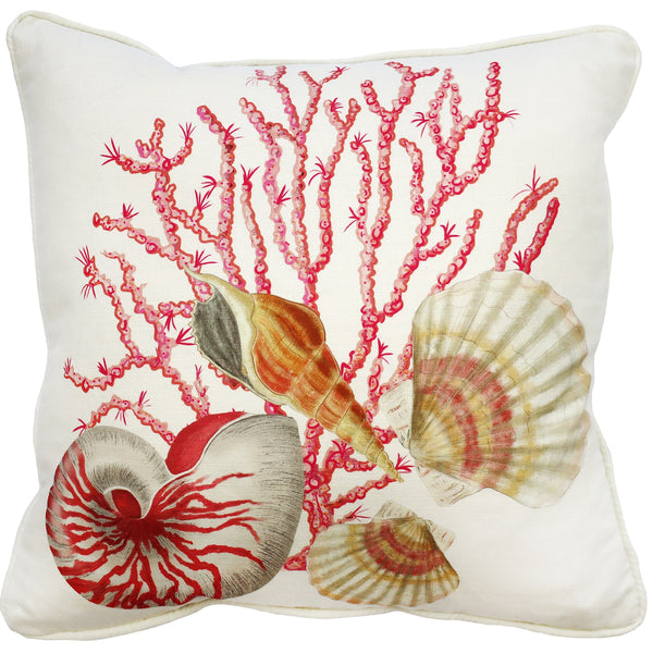 Shellseeker Off White Linen Cushion Cover - Cream Cornwall