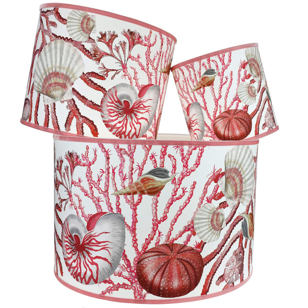 Shellseeker Off White Lampshade - Cream Cornwall