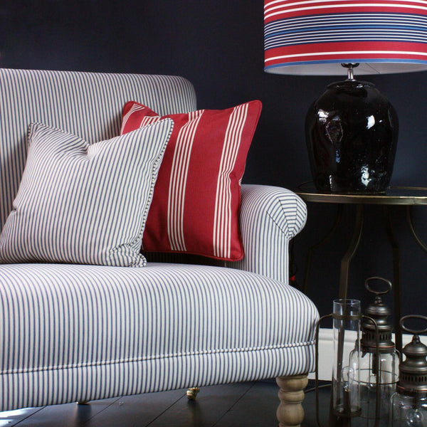 Trefusis Stripe Cushion Cover -Homeware- Cream Cornwall