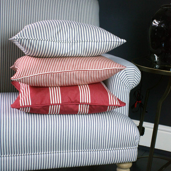 Tilly Stripe Cushion Cover -Homeware- Cream Cornwall