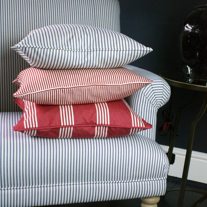 Marlborough Stripe Cushion Cover -Homeware- Cream Cornwall