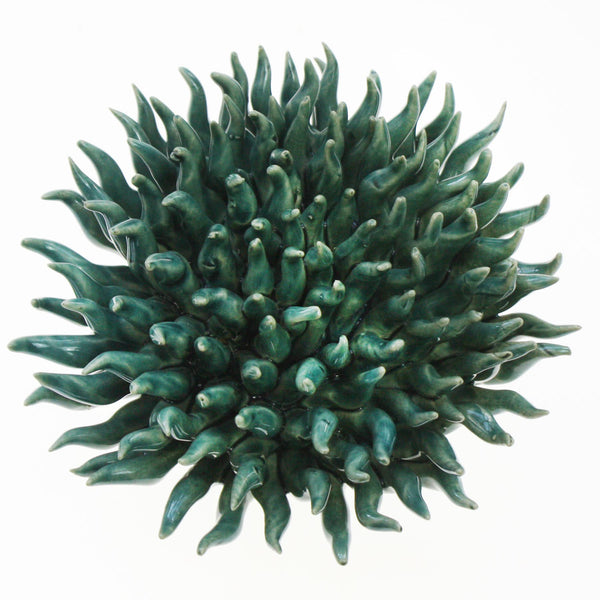 Teal Underwater Flower -Accessories- Cream Cornwall