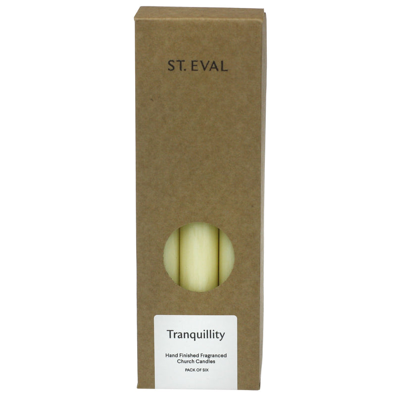 Pack Of 6 Scented Dinner Candles - Tranquility -Accessories- Cream Cornwall