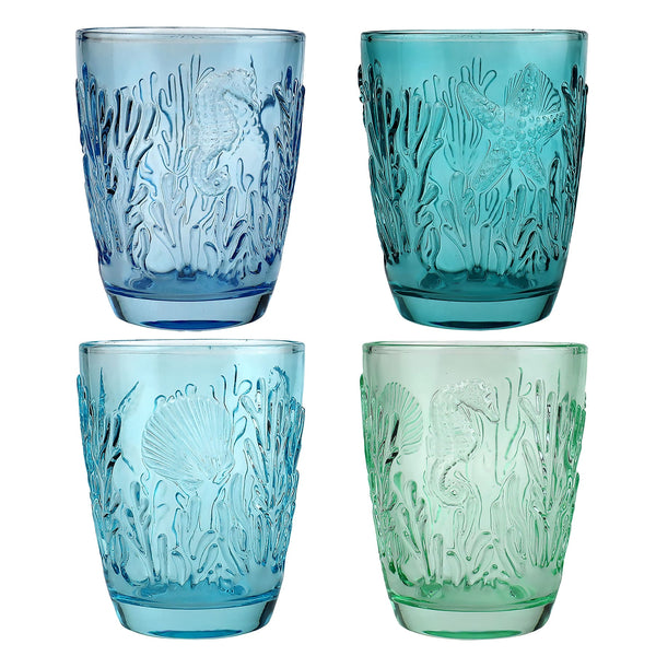 Set of 4 Underwater Tumblers - Cream Cornwall