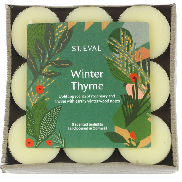 Winter Thyme Scented Christmas Tealights -Accessories- Cream Cornwall