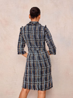 Plaid Autumn Dress - April & Alex