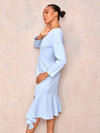 Long Sleeve Pleated Midi Dress - April & Alex