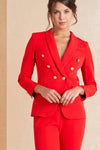 Red Two Piece Suit - April & Alex