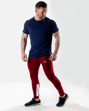 Bi Panel Tapered Joggers-BLOOD RED