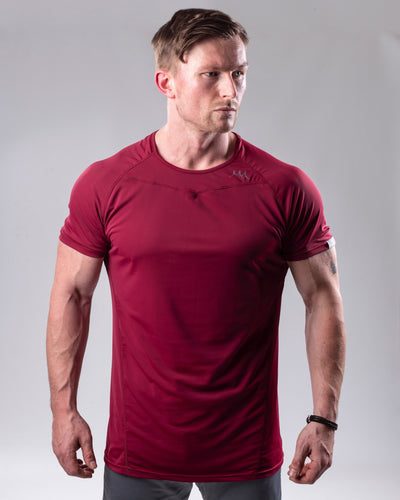 Fineform T shirt-Burgundy