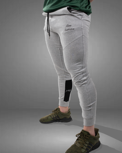 Grey Tapered fit gym joggers