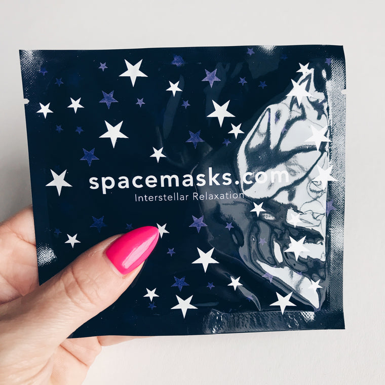 Spacemasks, one use eye masks to help you sleep...Heavenly
