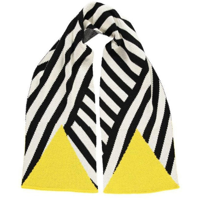 Long Soft Yellow & Black Scarf