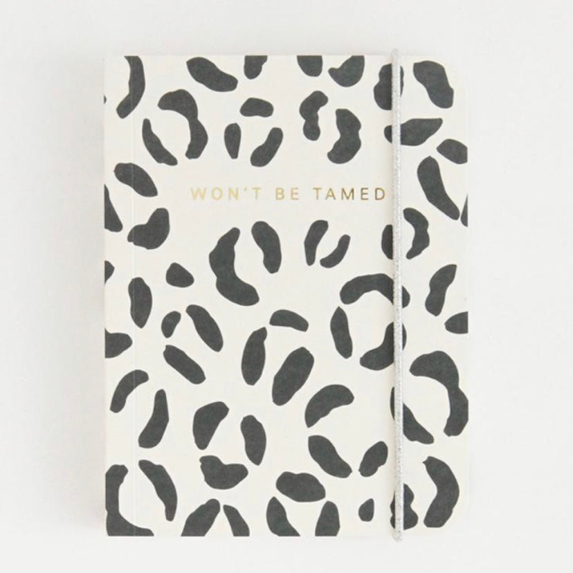 'Won't be Tamed' Leopard Print Small Notebook