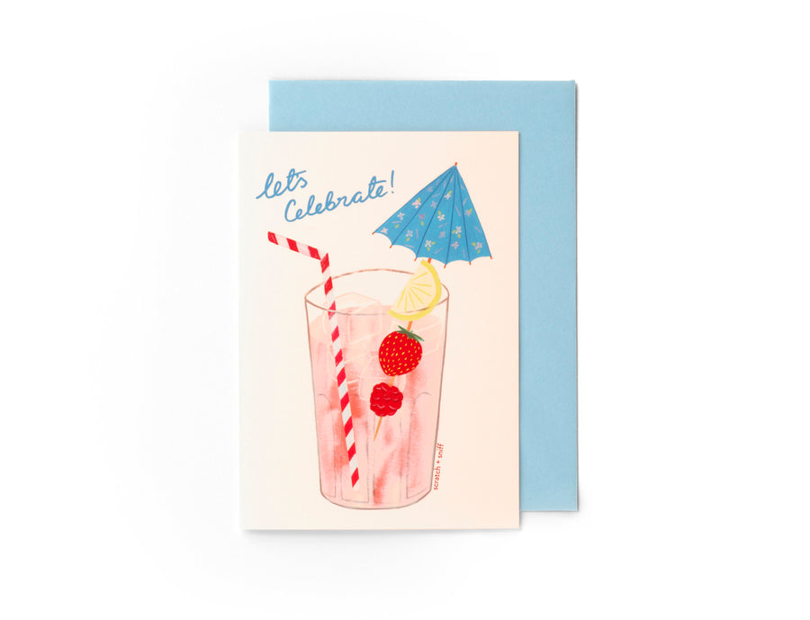 Scratch and Sniff Card - Let's Celebrate Cocktail