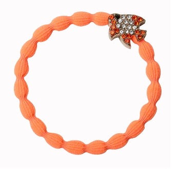 Sparkly Orange Fish Hair Bangle