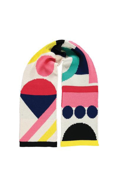 Short Cosy Colourful Scarf