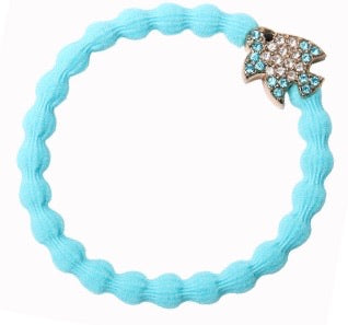 Bling Sky Blue Fish Hair Bangle