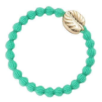 Green & Gold Palm Leaf Hair Band and bangle