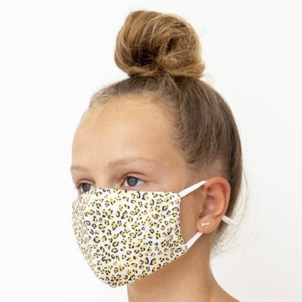 Child's Face Mask - Leopard Yellow Print