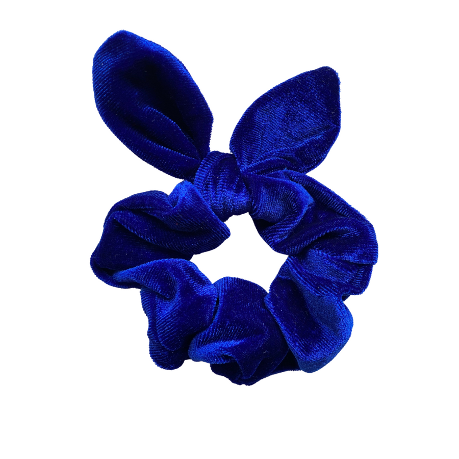 Royal Blue Bunny Ear Scrunchie