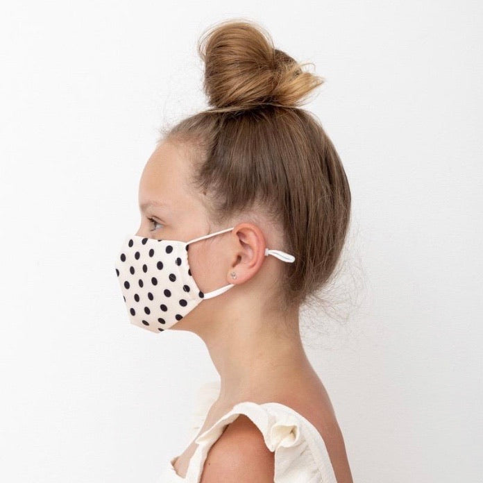 Child's Face Mask - Polka Dots