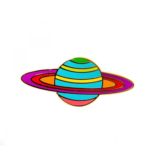 Planet Saturn Enamel Pin
