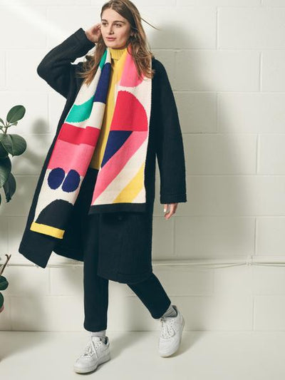 Long Cosy Colourful Scarf