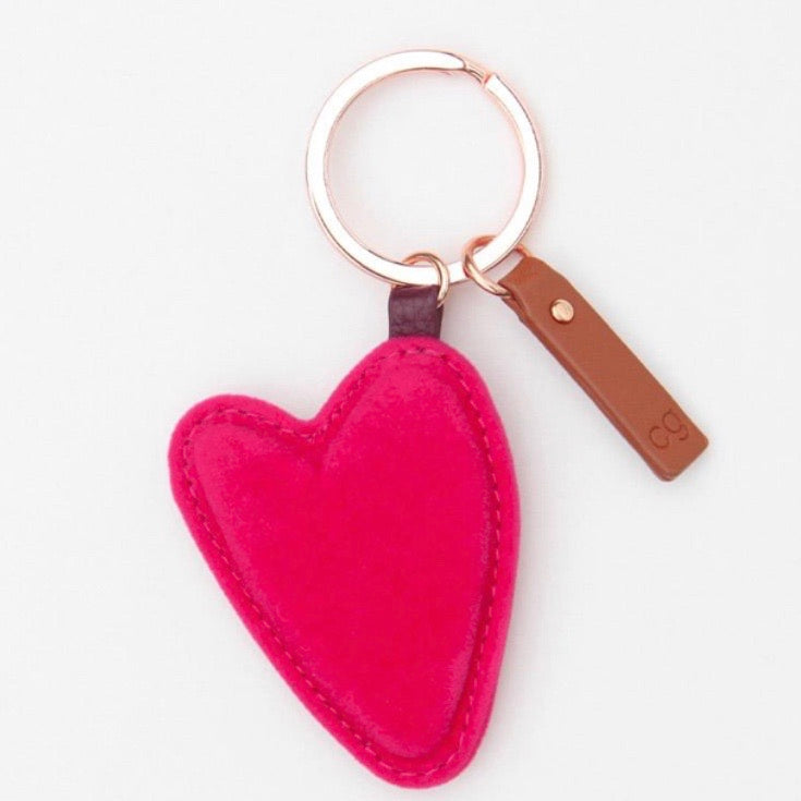Pink Heart Key Ring