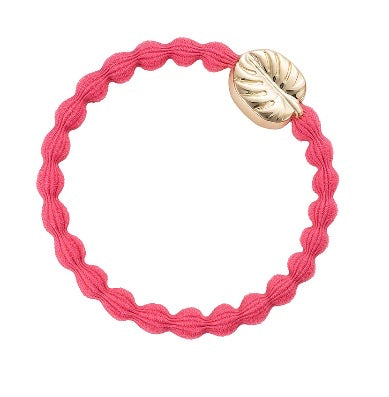 Coral & Gold Palm Leaf Hair Band and bangle