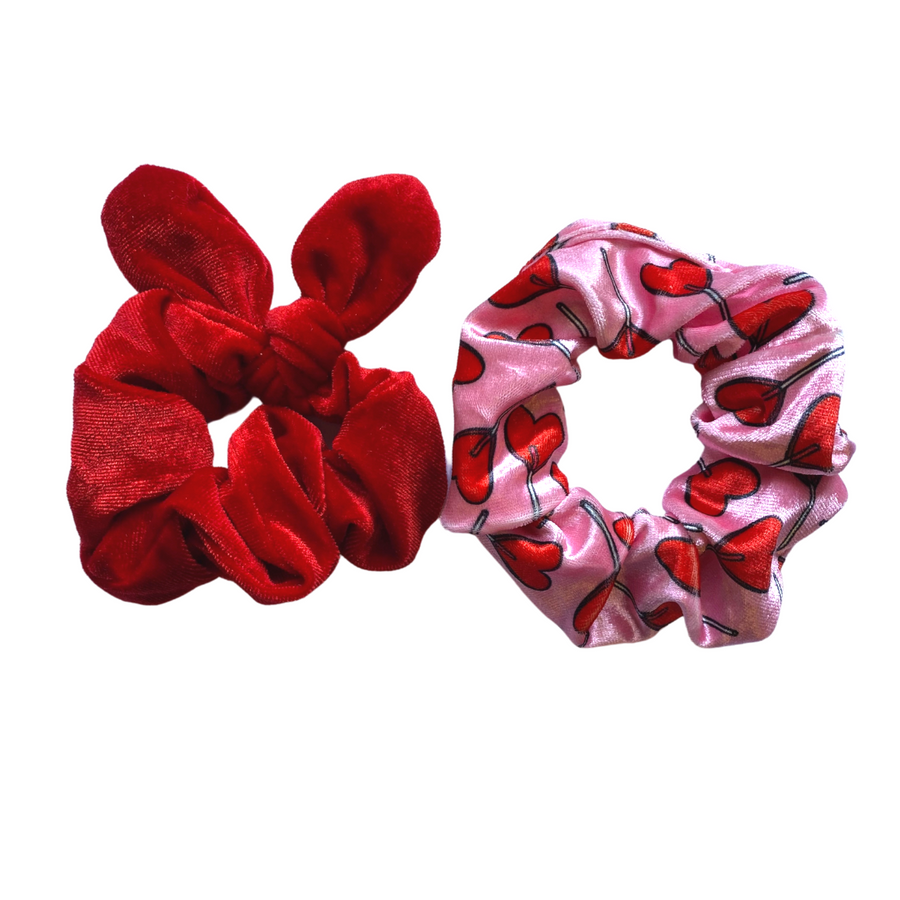 Red Bunny Ear Scrunchie