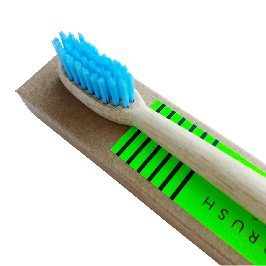 Swimming Pool Blue, Bamboo Toothbrush,