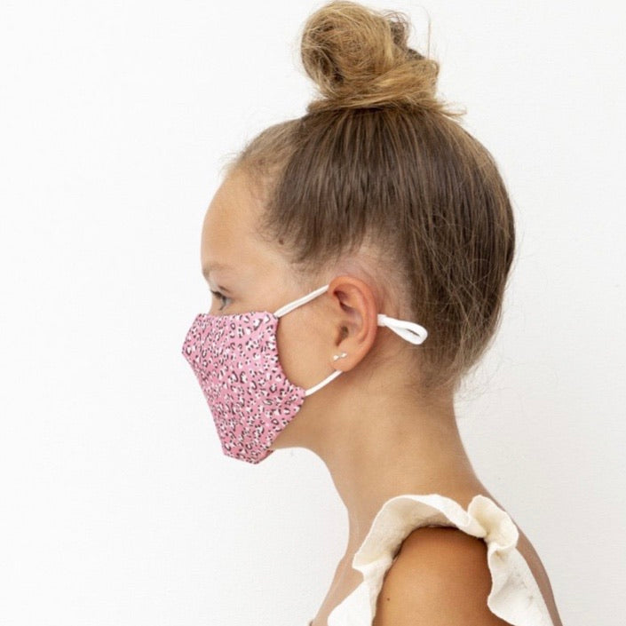 Child's Face Mask - Leopard Pink Print