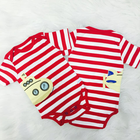 Red Striped Submarine Bodysuit