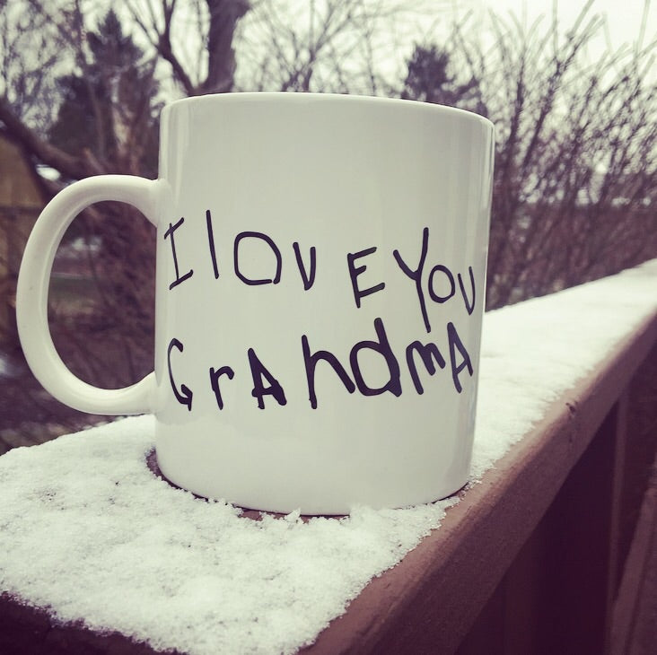 Child's Handwriting Mug