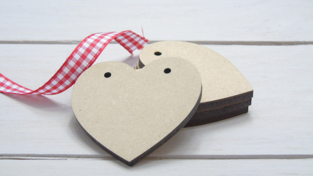 Classic Heart 4cm to 12cm (Packs Of 10)
