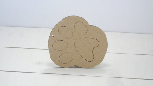 Dog Paw Round 4cm to 12cm (Packs Of 10)
