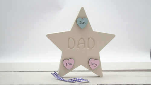 Star Etched With The Word 'Dad