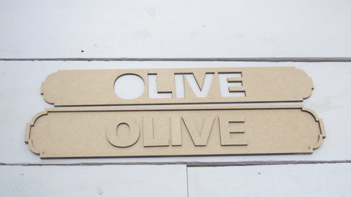 Name Road Sign - 40cms