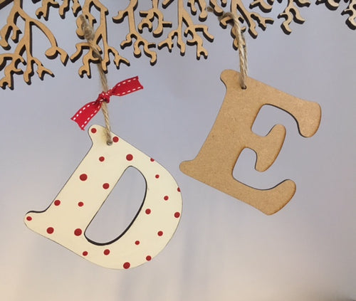 Cooper Letter Gift Tags / Decorations - 10cms