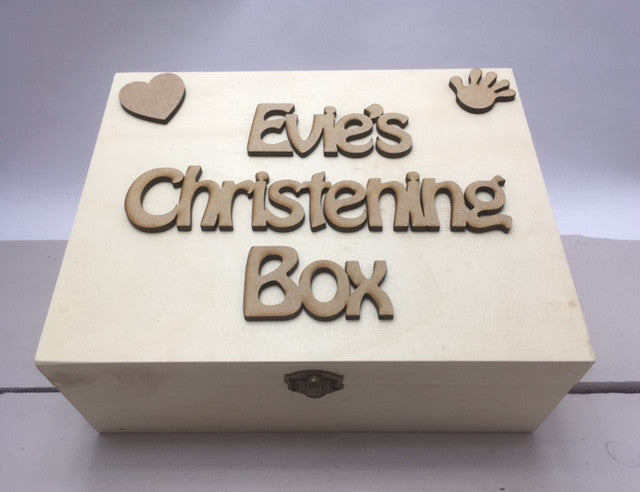 Christening Memory Box - Personalised