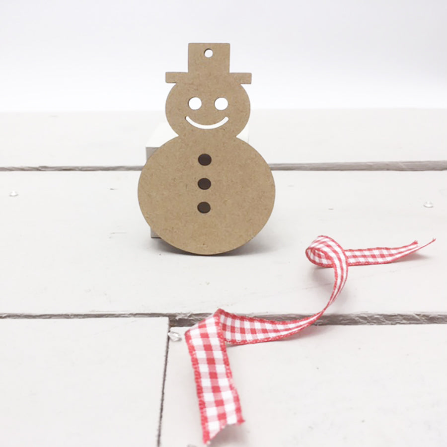 Snowmen with Face & Buttons 4cm -12cm (Packs Of 10)